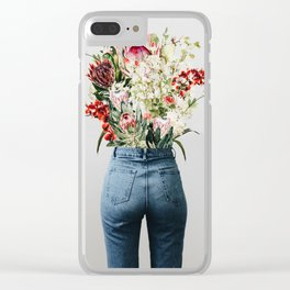 Bottomless Bouquet Clear iPhone Case