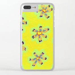 Yellow Emily Rose Clear iPhone Case