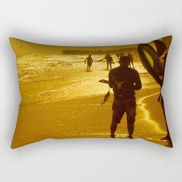 Kitesurfing Rectangular Pillow