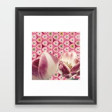 chiang candies & tulips Framed Art Print