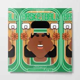 Basketball Green - Alleyoop Buzzerbeater - Aretha version Metal Print