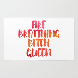 Fire Breathing Bitch Queen Rug
