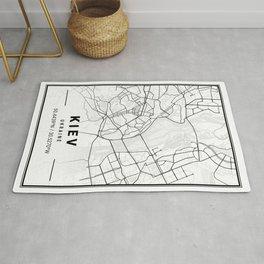 Kiev Light City Map Rug