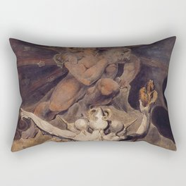 The Number of the Beast is 666 - William Blake Rectangular Pillow