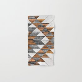 Urban Tribal Pattern 12 - Aztec - Wood Hand & Bath Towel
