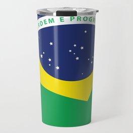 Brasil Nation flag travel poster Travel Mug