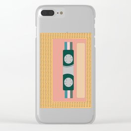 Nectarine Vintage 90s Cassette Tape Clear iPhone Case