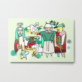Oh Holy Crap Christmas Fun # Xmas Metal Print