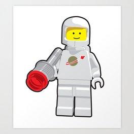 Vintage Lego White Spaceman Minifig Art Print