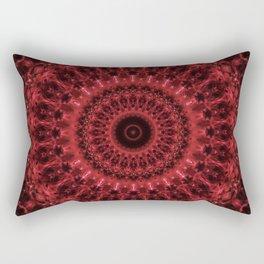 Red ornamented mandala Rectangular Pillow