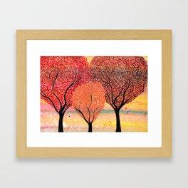Autumn Shelter Framed Art Print