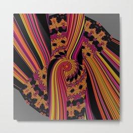 Fluid abstract digital pattern fire colors Metal Print