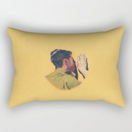 Untitled (soldier, gold) Rectangular Pillow