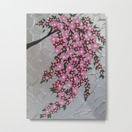 portait vertical flowers painting art blossom blossoms sakura Japanese pretty picture pictures Metal Print