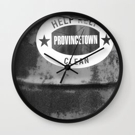 Help Keep Ptown Clean! Wall Clock