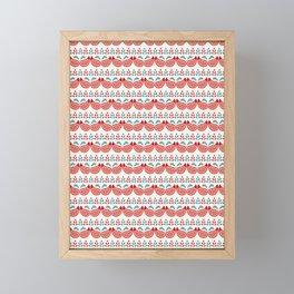 Boho flower paisley all over print. Framed Mini Art Print