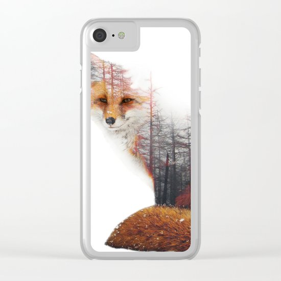 Misty Fox Clear iPhone Case