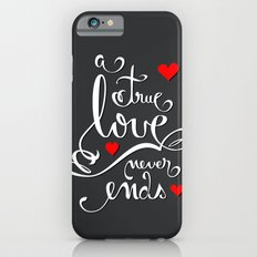 Valentine Love Calligraphy and Hearts V2 iPhone 6s Slim Case