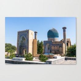 Gur-e Amir mausoleum of Timur - Samarkand, Uzbekistan Canvas Print