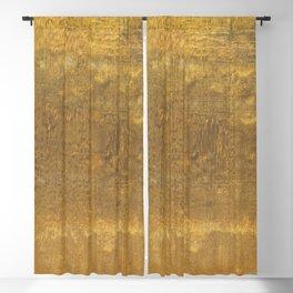 Brush painted vintage golden texture Blackout Curtain