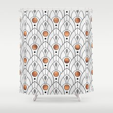 Art Deco Leaves / Version 2 Shower Curtain