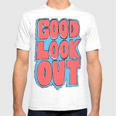 Good Lookout Bubble Letters MEDIUM Mens Fitted Tee White