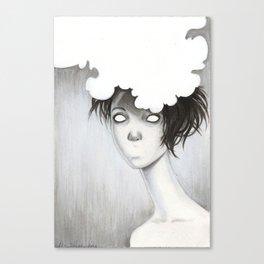 Her Unspoken Delight Canvas Print