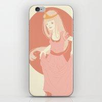 princess bubblegum iPhone & iPod Skins featuring Princess Bubblegum by Katie Addison Illustration