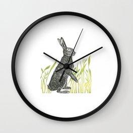 Spring Bunny Rabbit Wall Clock