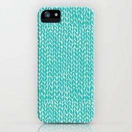 Hand Knit Aqua iPhone Case
