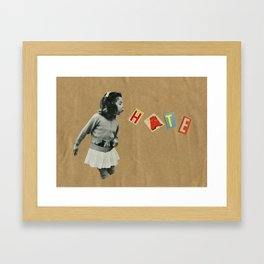 Blow it away. Framed Art Print