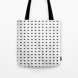 White Marble Black Abstract Triangle Pattern Tote Bag