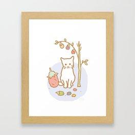 White Kitten Framed Art Print