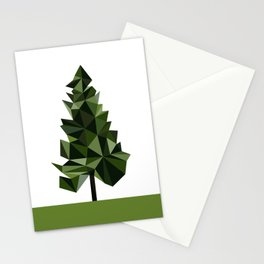 Poly geometric trees Stationery Cards