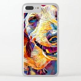 Dachshund 3 Clear iPhone Case