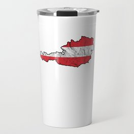 Europe Patriotic Austrian Patriotism Nationalism Vienna Gift Austria Flag Map Travel Mug
