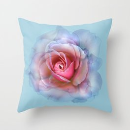 bed of roses: robin's egg blue ghost Throw Pillow
