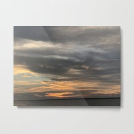 Sunset on a Cloudy Day Metal Print