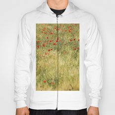 Red poppies at the fields Hoody