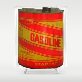 gasoline vintage stancan old can Shower Curtain