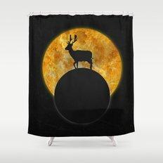Deer Walking On The Moon Shower Curtain