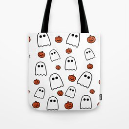 Halloween Ghosts And Pumpkins Tote Bag