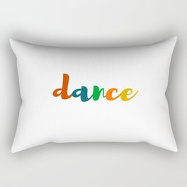 DANCE colorful design Rectangular Pillow