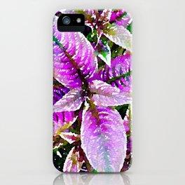 Fuchsia Leaves iPhone Case