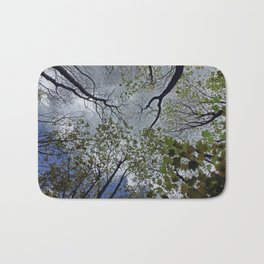 Tree canopy in the spring Bath Mat