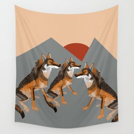 Totem Iberian wolf Wall Tapestry