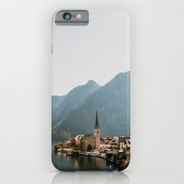 Village with lake and mountains Hallstatt, Europe | Austria | Travel photography | art photo print iPhone Case