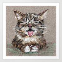 lil bub Art Prints featuring Cat *Lil Bub*  by Pendientera