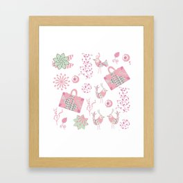 Travel pattern 2 Framed Art Print
