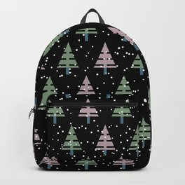 Winter. Christmas tree . Backpack